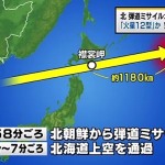 北朝鮮ミサイルついに日本上空を通過!許されない最新情報と危険すぎる今日のJアラート
